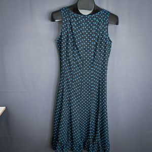 Sandra Darren Dress Size 6 Black Blue Womens
